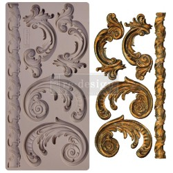 "Prima Marketing Re-Design Mould 5"" X 10"" - Lilian Scrolls"