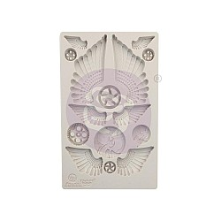 "Prima Marketing Finnabair Decor Moulds 5""X8"" - Cogs & Wings"