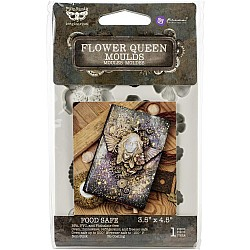 "Prima Finnabair Decor Moulds 3.5""X4.5"" - Flower Queen"
