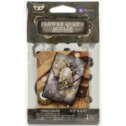 """Prima Finnabair Decor Moulds 3.5""""X4.5"""" - Flower Queen"""