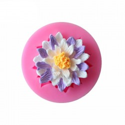 Single Lotus Flower Silicon Clay Mold
