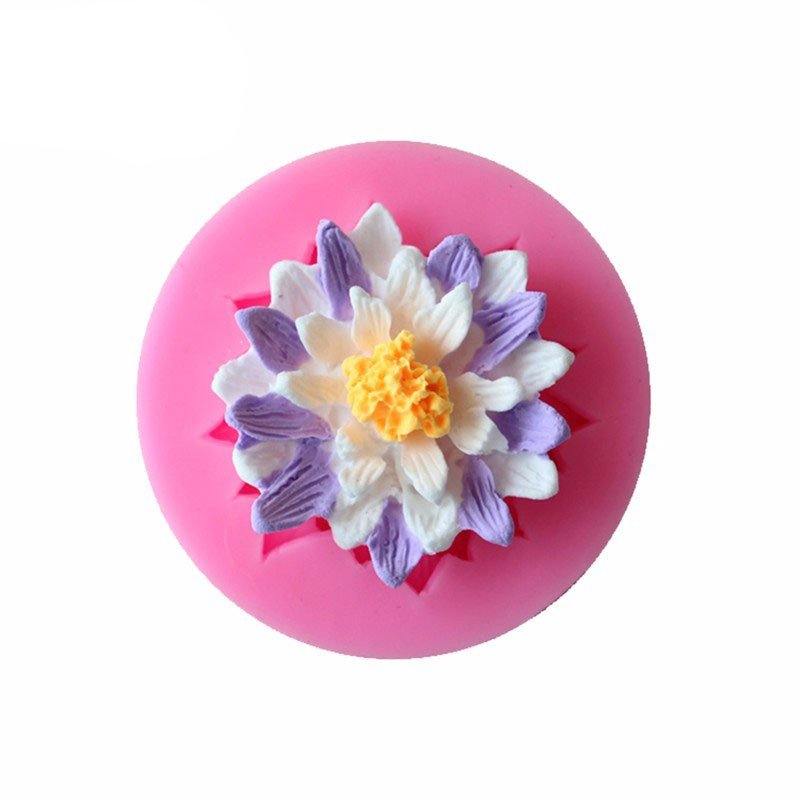 Buy Single Lotus Flower Silicon Clay Mold Online In India At Low