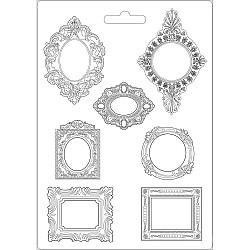 "Stamperia Soft Maxi Mould 8.5""X11.5"" - Frames, Princess"