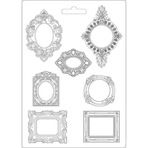 Stamperia Soft Maxi Mould 8.5X11.5 - Frames, Princess