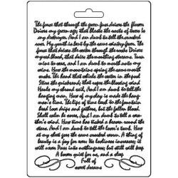Stamperia Soft Maxi Mould A5 -  Manuscript, Calligraphy