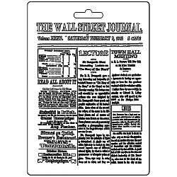 Stamperia Soft Maxi Mould A5 -  Wall Street Journal Calligraphy