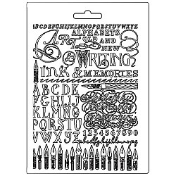 Stamperia Soft Maxi Mould A5 -  Ink Memories Calligraphy
