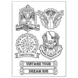Stamperia Silicon Mould A5 - Vintage Tour Vagabond