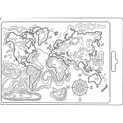 Stamperia Soft Maxi Mould A5 - Map of the World