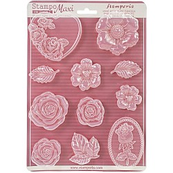 """Stamperia Soft Maxi Mould 8.5""""X11.5"""" - Roses"""