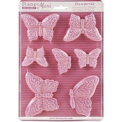 """Stamperia Soft Maxi Mould 8.5""""X11.5"""" - Butterflies"""