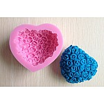 Floral Heart Silicone Soap Mold