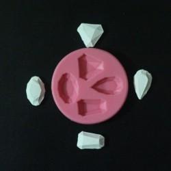 Gems Silicone Clay Mold