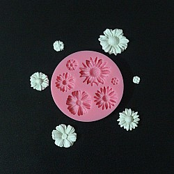 Mixed Daisies Silicone Clay Mold