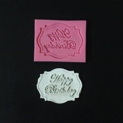 Happy Birthday Plaque Silicone Clay Mold