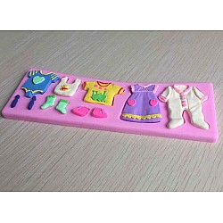 Baby Clothes Silicon Clay Mold