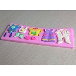 Baby Clothes Silicon Clay Mold