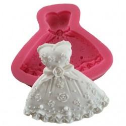 Dress Shape Silicon Clay Mold