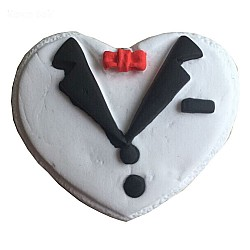 Groom shaped Heart Silicone Clay Mould