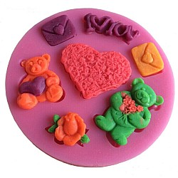 Valentine Theme Silicon Clay Mold - Design 1