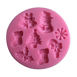 Christmas Theme Silicon Clay Mold (Design 2)