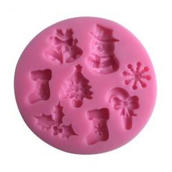Christmas Theme Silicon Clay Mold (Design 2)