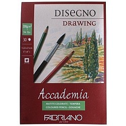 "Fabriano Accademia Drawing Pad - 200GSM A4 - 8.25X11.75"" (30 Sheets)"