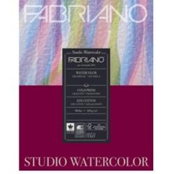 "Fabriano Studio WaterColor Paper - 200GSM - 7X9.5"" (20Sheets)"