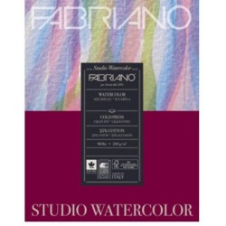"Fabriano Studio WaterColor Paper - 200GSM - 12X15.75"" (20Sheets)"