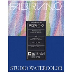 "Fabriano Studio WaterColor Paper - 200GSM - 9.5X12.5"" (20Sheets)"