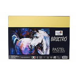 Brustro Pastel Assorted Brights 160 GSM A3 Pack of 20 Sheets