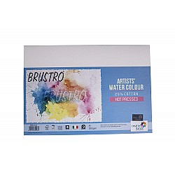 Brustro Artists WaterColor Hot Pressed Paper (25% Cotton) - 300 gsm - A4