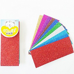 Mixed Color Glitter Foam Sheets (Small)