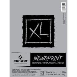 "Canson XL Rough Newsprint Paper Pad 9""X12"""