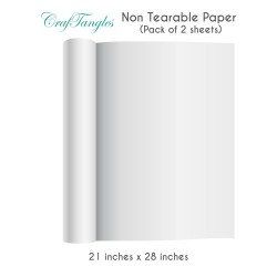 CrafTangles non tearable paper sheets (110 gsm) (Set of 2 sheets) - 21 by 28 inch