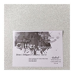 CrafTangles Glitter Cardstock (Set of 5 sheets) - Silver