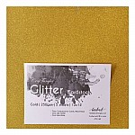 CrafTangles Glitter Cardstock (Set of 5 sheets) - Gold