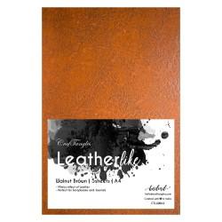 CrafTangles Leatherlike Paper - Walnut Brown (Set of 5 sheets)