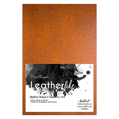 CrafTangles Leatherlike Paper - Walnut Brown (Set of 5 sheets)