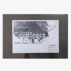 Silver mirror Cardstock / Paper A4 (350 gsm) (Set of 10 sheets)
