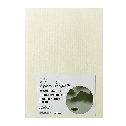 CrafTangles Rice Paper A4 (50 gsm) (Set of 20 sheets)