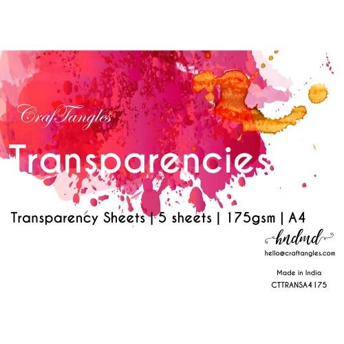 CrafTangles Transparencies - A4 (175 gsm) (Set of 5 sheets)