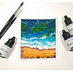CrafTangles liquid watercolor (15 ml) - Evergreen