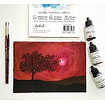 CrafTangles liquid watercolor (15 ml) - Rosewood