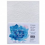CrafTangles 100% cotton 300 gsm Rough handmade Watercolor Paper (Pack of 10) - 9 by 12 inches