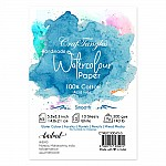 CrafTangles 100% cotton 300 gsm Smooth handmade Watercolor Paper (Cold Press) (Pack of 10) - A5