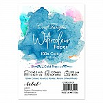 CrafTangles 100% cotton cold press 300 gsm Watercolor Paper (Pack of 10 sheets) - A5