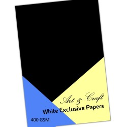 CrafTangles Black cardstock (Set of 5 sheets) - A4 (400 gsm)