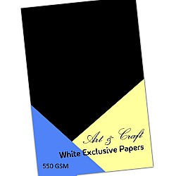 CrafTangles Black cardstock (Set of 5 sheets) - A4 (550 gsm)