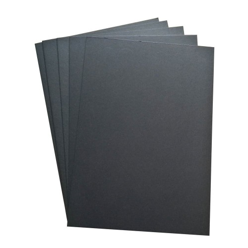 CrafTangles Black light weight chipboard (Set of 5 sheets) - A4 (1000 gsm)